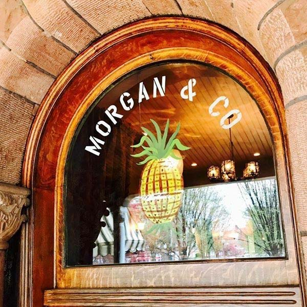 Morgan and Co window decal