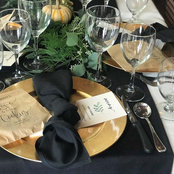 Wedding plate settings
