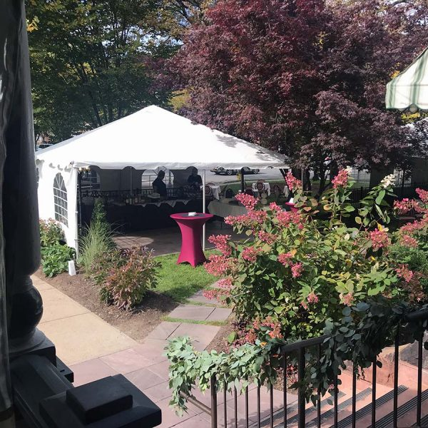 Event tents in the courtyard